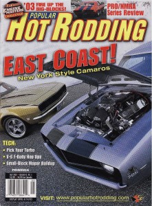 Article by Steve Chryssos from Popular Hotrodding Magazine - May 2003 - Cover